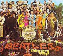 The cover of the Beatles' Sgt Pepper's Lonely Hearts Club, featuring Swindon's Diana Dors