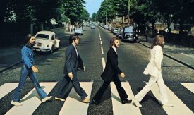 The famous Abbey Road Beatles picture, featuring a VW Beatle registered in Swindon
