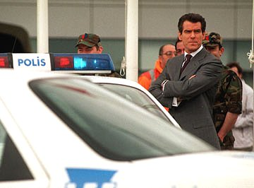 Pierce Brosnan in Swindon