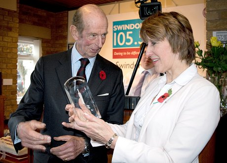 Duke of Kent at Swindon 105.5