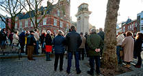 Town Falls Silent for Paris Victims