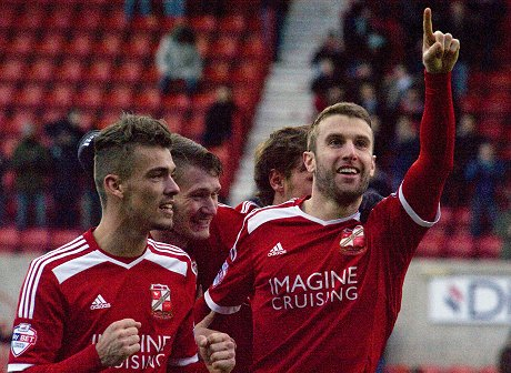 Andy Williams scores for Swindon Town