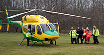 Air Ambulance Airlifts Cyclist