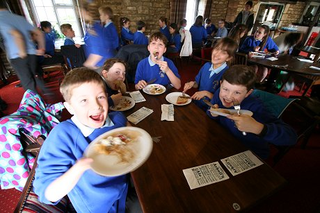 Pancake day at the Riverside pub, Lechlade