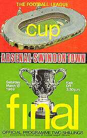 Swindon Town v Arsenal at Wembley 1969