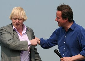 David Cameron and Boris Johnson in Swindon