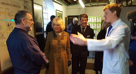 HRH The Duchess of Cornwall, Camilla at Arkells Brewery 30 January 2018