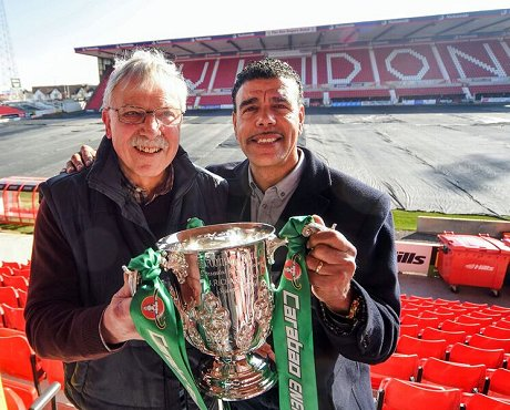 Don Rogers & Chris Kamara with the League Cup