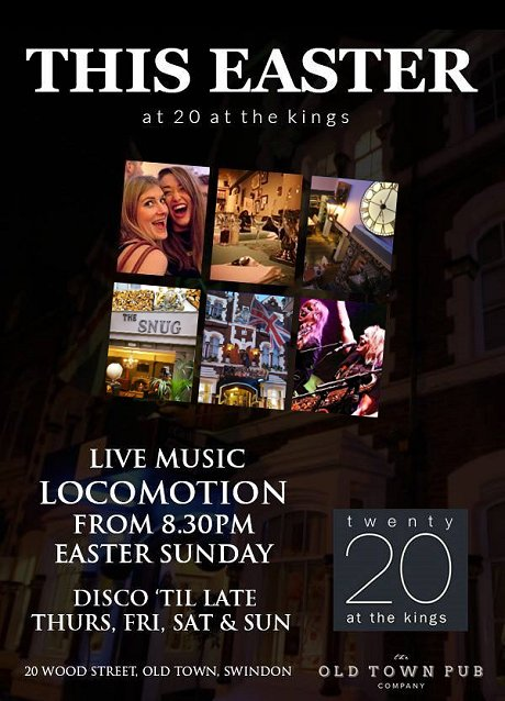 Easter at 20 at The Kings, Swindon