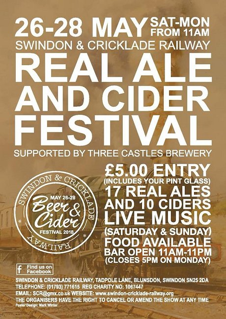 Beer & Cider Festival Swindon & Cricklade Railway