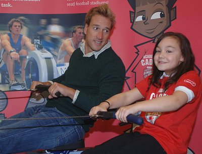 Ben Fogle rows with pupil from Wroughton Junior School