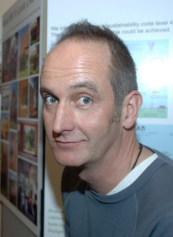 Kevin McCloud of Hab Housing and Grand Designs, in Swindon