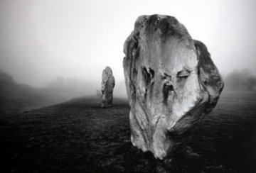 Avebury, Wiltshire, in the fog by Lynette Thomas