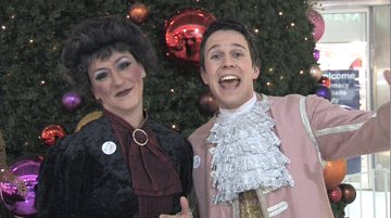 Panto stars from Cinderella