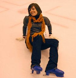 SwindonWeb's very own Jayne Torvill, Mel Turner-Wright, attempts to skate at the Link Centre in Swindon