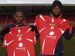 Swindon Town Football Club's new signings, Moses Ashikodi and Anthony McNamee