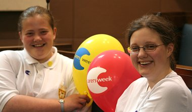 The Swindon Carers Centre Team celebrating Carers Week 2006