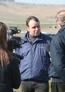 Alan King, Swindon racehorse trainer, being interviewed by SwindonWebTV