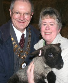 Swindon's Mayor Cllr Michael Barnes at Roves Farm in Swindon