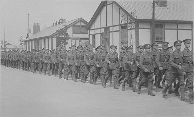 Soldiers at Chiseldon Camp Swindon