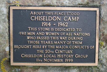 Chiseldon Camp memorial stone, Swindon
