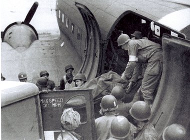 D Day Dakota flying casualties to Swindon
