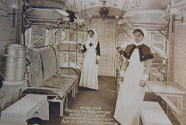 GWR Swindon Ambulance Train Ward carriage