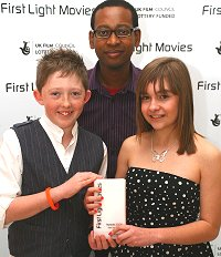 Students from Isambard Community School in Swindon receive their First Light Award