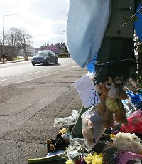Crash site in Drove Road, Swindon