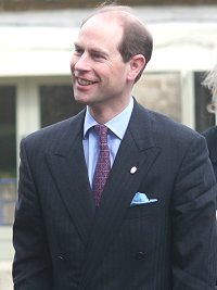 Earl of Wessex at Lydiard House in Swindon