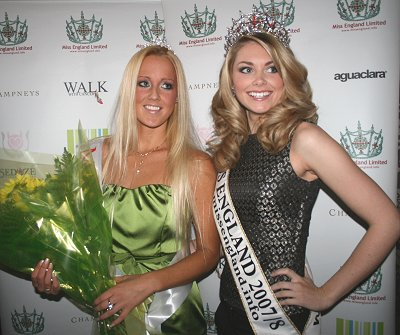 Miss Swindon, Becky Coles and Miss England, Georgia Horsley