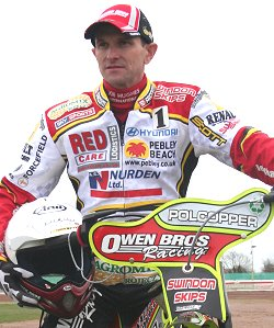 Leigh Adams is the golden boy for Swindon Robins Speedway team