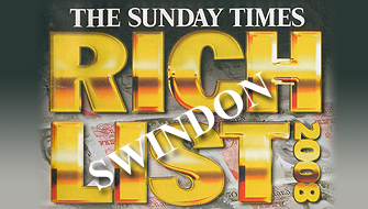 Swindon appears in The Sunday Times Rich List 2008