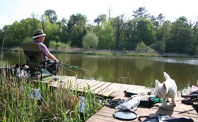 Stanton Park Swindon Milo and Fisherman