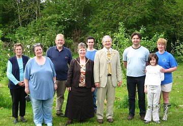 Penhill residents with the Mayor at the Penhill Community Orchard in Swindon