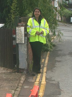 Thames Water representatives clearing up the floods in Swindon