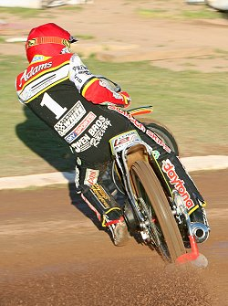Leigh Adams v Poole in the K.O cup 1/4 final