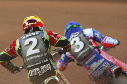 British Speedway GP with Swindon Speedway's Leigh Adams