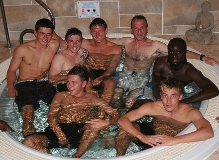 Swindon Town boys get pampered at The Retreat in Swindon