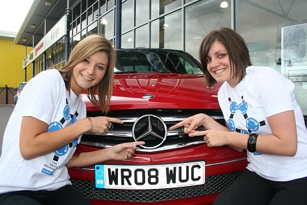 SwindonWeb girls get a Mercedes to go on the STFC preseason tour