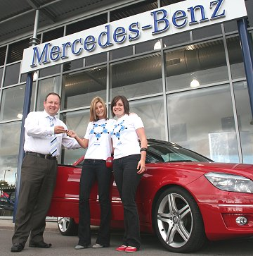 SwindonWeb girls get Mercedes to follow the STFC lads on their pre season tour in Austria