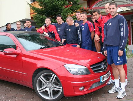 Swindon Town with SwindonWeb's Mercedes