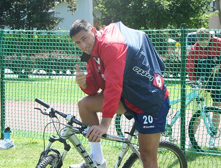 Swindon Town's Billy Paynter at pre-season training in Austria