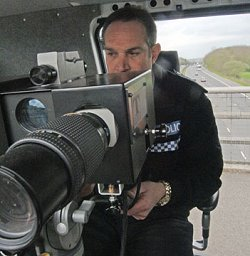 Speed cameras on the M4