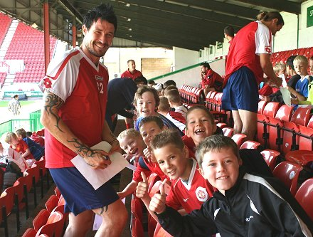 Swindon Town fans meet their favourite players