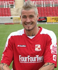 Swindon Town's Lee Peacock