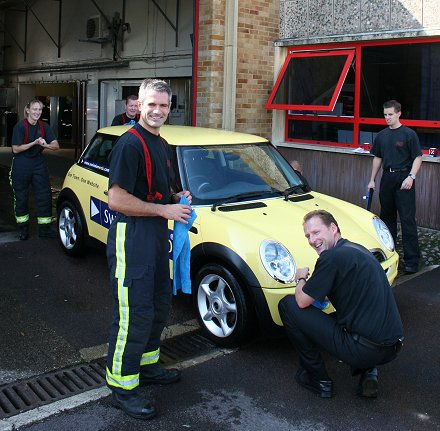 Swindon Fire Station Car Wash Fundraiser 2008