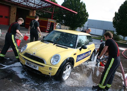 Swindon Fire Station Car Wash Fundraiser