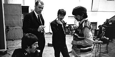 George Martin and the Beatles at Abbey Road