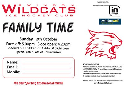 Swindon Wildcats discnt voucher